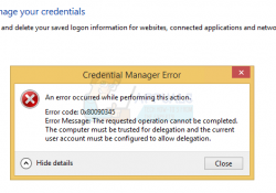 Credential Manager Error 0x80090345
